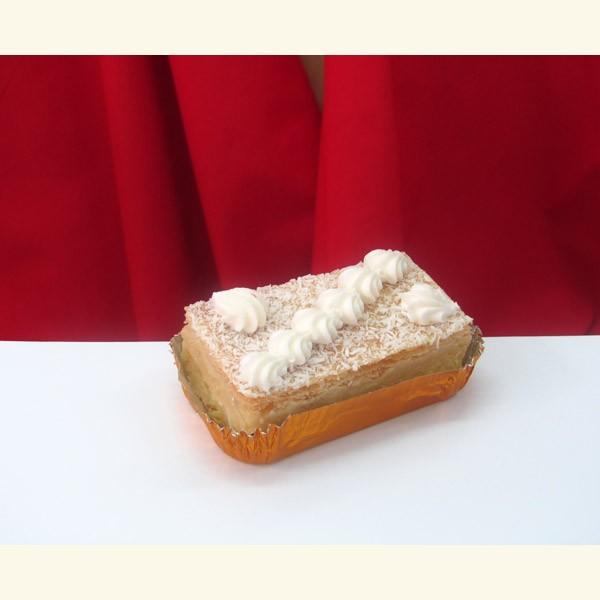 Pastel dietético de crema y manzana