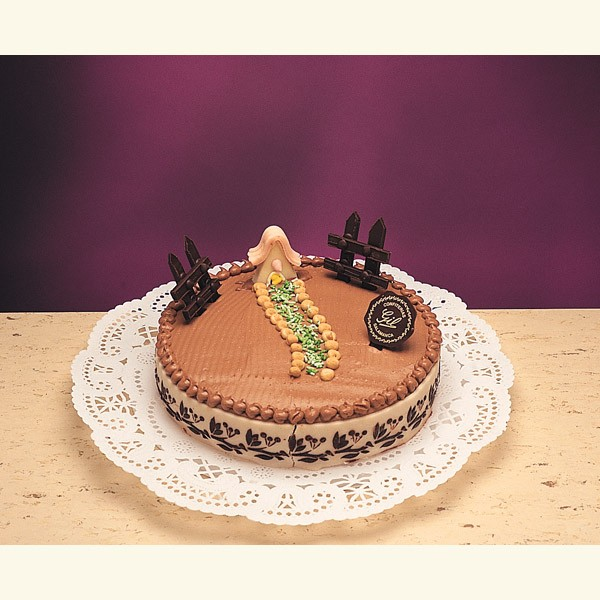Tarta De Mantequilla Y Chocolate Adornada - Adornos-tarta